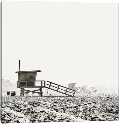 BW Lifeguard Canvas Art Print