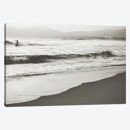 BW Surfer No. 1 Canvas Print #MYA6} by Myan Soffia Canvas Art Print