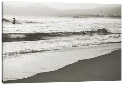 BW Surfer No. 1 Canvas Art Print