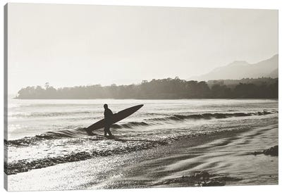 BW Surfer No. 3 Canvas Art Print