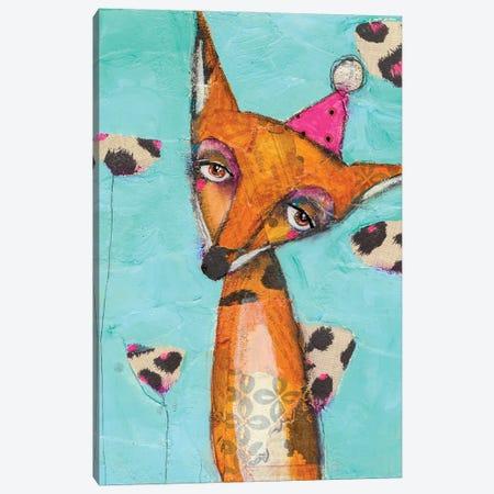 Party Animal Canvas Print #MYC17} by Mandy Yocom Canvas Wall Art