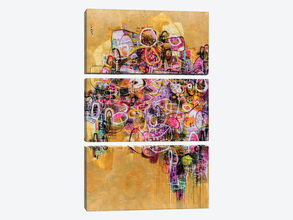 It's Gold Outside by Mandy Yocom 3-piece Canvas Print