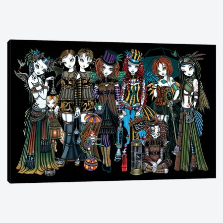 A Fairy Steampunk Circus Canvas Print #MYJ1} by Myka Jelina Canvas Print