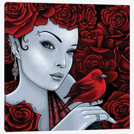 Scarlet Canvas Print #MYJ64} by Myka Jelina Canvas Wall Art