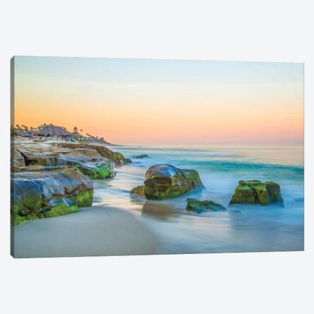 Windansea Canvas Print #MYO3} by Dean Mayo Canvas Wall Art