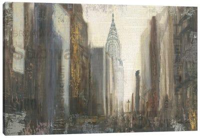 Urban Movement I NY Neutral Crop Canvas Art Print