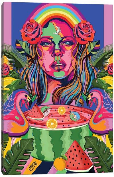 Palm Spring Canvas Art Print