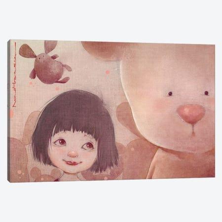 Sashka And The Bear Canvas Print #MZR26} by Moozoriki Canvas Artwork