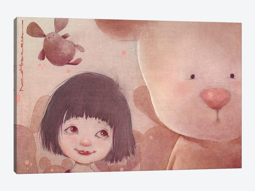 Sashka And The Bear by Moozoriki 1-piece Canvas Wall Art