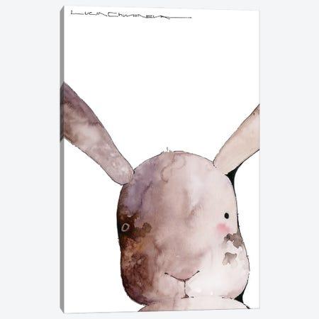 Hare Roman Loves Taking Selfies Canvas Print #MZR55} by Moozoriki Art Print