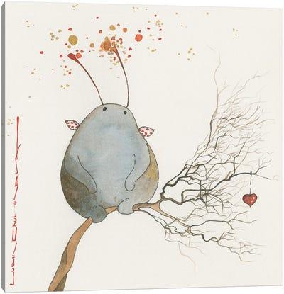 Koozika On A Twig Canvas Art Print