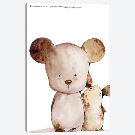 Kind Bear Boba And Moozorik Lyonya Canvas Print #MZR58} by Moozoriki Canvas Art