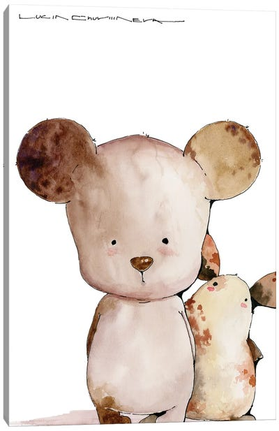 Kind Bear Boba And Moozorik Lyonya Canvas Art Print