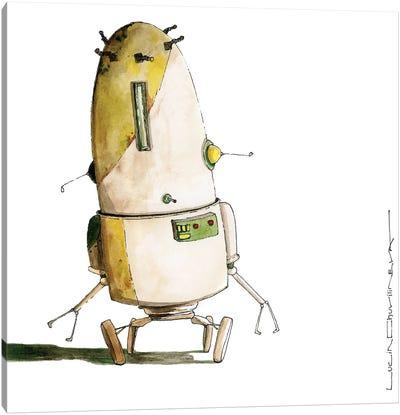 Robot Cifronius Went Shopping In Ikea Canvas Art Print