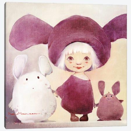 Bunny And Chubby Moozors Canvas Print #MZR6} by Moozoriki Canvas Art