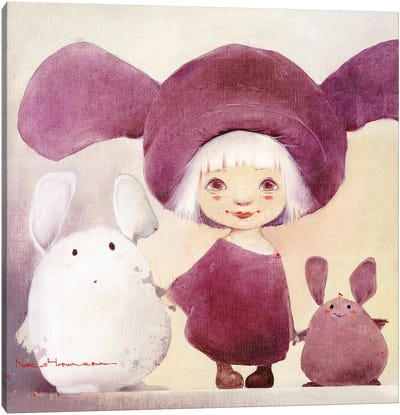 Bunny And Chubby Moozors Canvas Art Print