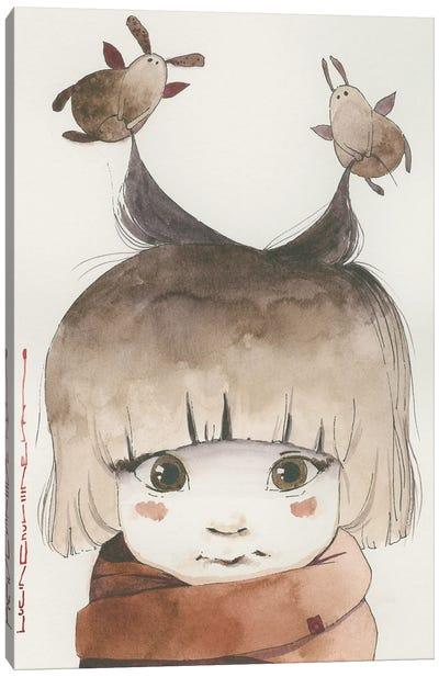 Sasha Is A Sweet Angel Canvas Art Print