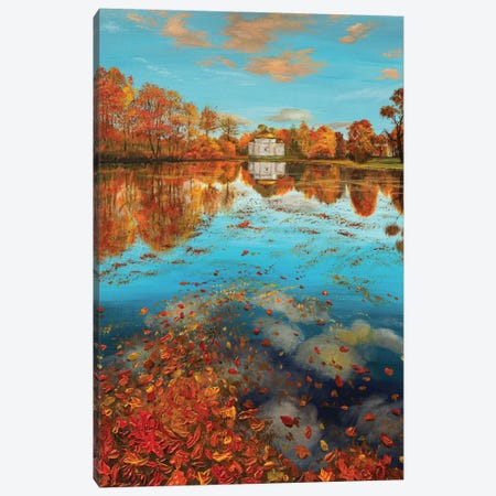 Gold Autumn Canvas Print #MZT10} by Marina Zotova Canvas Wall Art