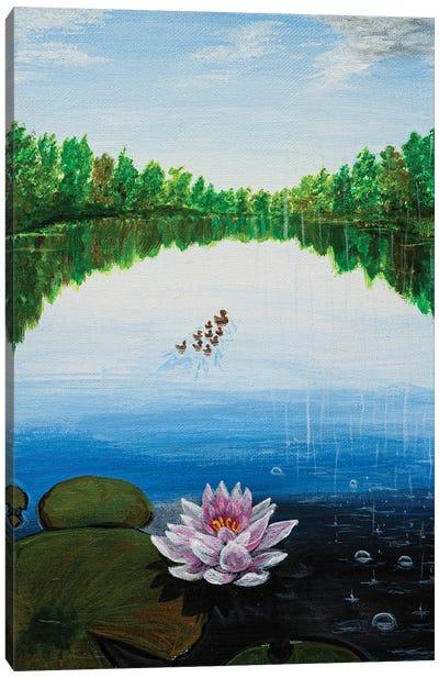 On The Pond Canvas Art Print
