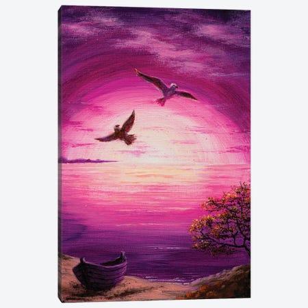 Purple Sunset Canvas Print #MZT20} by Marina Zotova Art Print