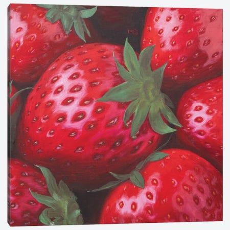 Ripe Strawberry Canvas Print #MZT32} by Marina Zotova Canvas Artwork