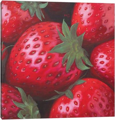 Ripe Strawberry Canvas Art Print