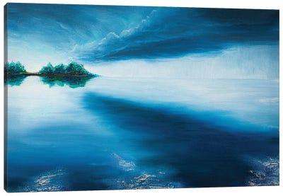 Blue Sunset Canvas Art Print