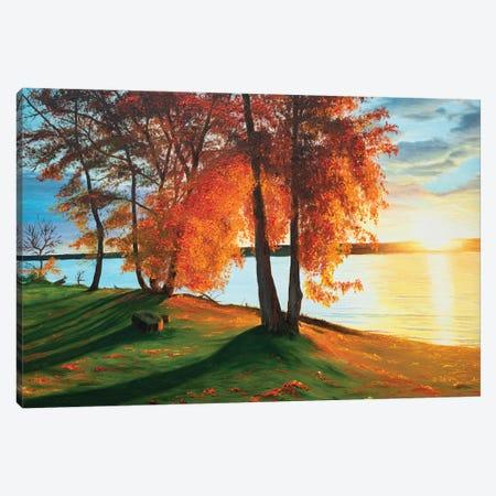 Charming Autumn Canvas Print #MZT5} by Marina Zotova Canvas Artwork