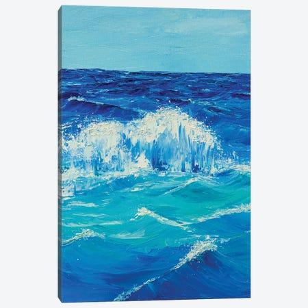 Foamy Wave Canvas Print #MZT8} by Marina Zotova Art Print