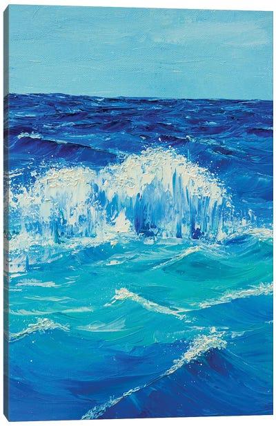 Foamy Wave Canvas Art Print