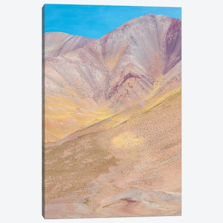 The mountains of the Altiplano, near the village of Tolar Grande, close to the border of Chile. Canvas Print #MZW126} by Martin Zwick Canvas Wall Art