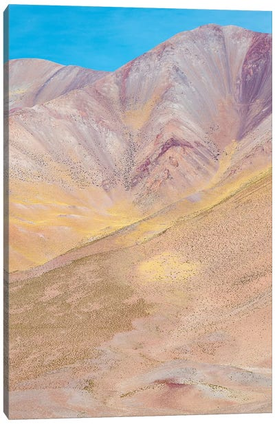 The mountains of the Altiplano, near the village of Tolar Grande, close to the border of Chile. Canvas Art Print
