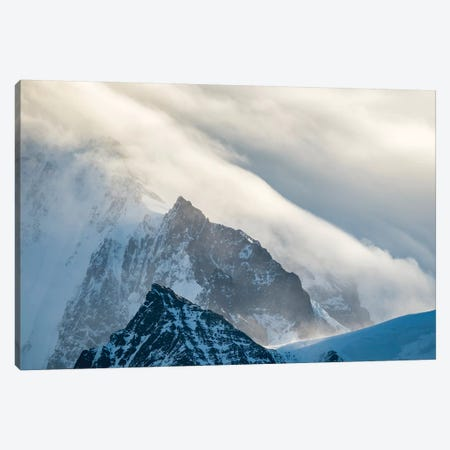 Typical storm clouds over the mountains of the Allardyce Range. Canvas Print #MZW129} by Martin Zwick Canvas Art Print