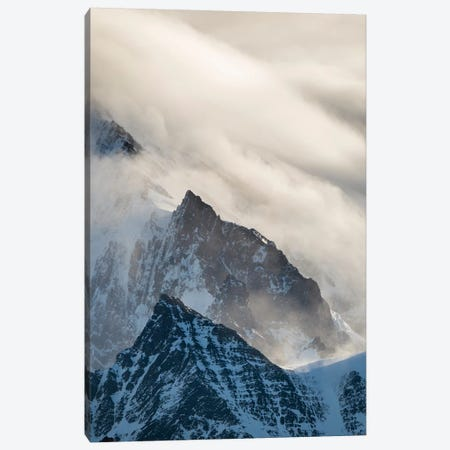 Typical storm clouds over the mountains of the Allardyce Range. Canvas Print #MZW130} by Martin Zwick Canvas Artwork