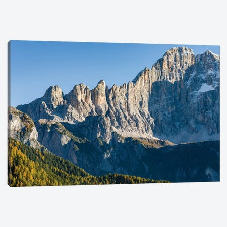 Mount Civetta is one of the icons of the Dolomites, Italy II Canvas Print #MZW14} by Martin Zwick Canvas Art