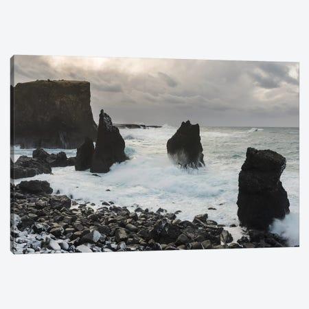 Coast Near Reykjanesviti And Valahnukur On Reykjanes Peninsula During Winter. Canvas Print #MZW161} by Martin Zwick Canvas Print