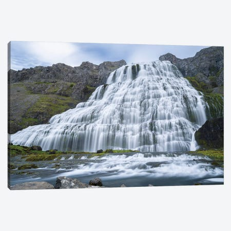Dynjandi An Icon Of The Westfjords. The Remote Westfjords In Northwest Iceland. Canvas Print #MZW175} by Martin Zwick Canvas Art Print