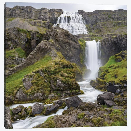 Dynjandi Waterfall, An Icon Of The Westfjords In Northwest Iceland. Canvas Print #MZW176} by Martin Zwick Art Print