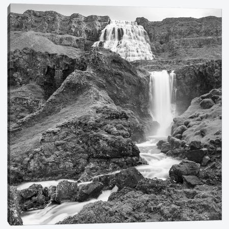 Dynjandi Waterfall, An Icon Of The Westfjords In Northwest Iceland. Canvas Print #MZW177} by Martin Zwick Canvas Print