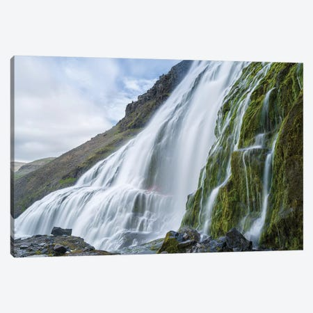 Dynjandi Waterfall, An Icon Of The Westfjords In Northwest Iceland. Canvas Print #MZW178} by Martin Zwick Canvas Artwork