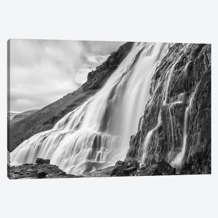 Dynjandi Waterfall, An Icon Of The Westfjords In Northwest Iceland. Canvas Print #MZW179} by Martin Zwick Canvas Wall Art