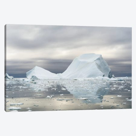 Ilulissat Icefjord At Disko Bay, Greenland, Danish Territory. Canvas Print #MZW208} by Martin Zwick Canvas Artwork