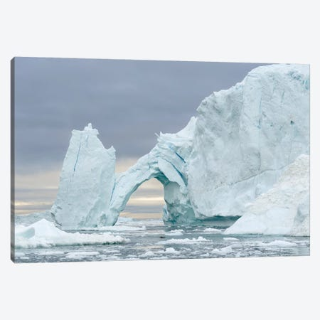 Ilulissat Icefjord At Disko Bay, Greenland, Danish Territory. Canvas Print #MZW209} by Martin Zwick Canvas Wall Art