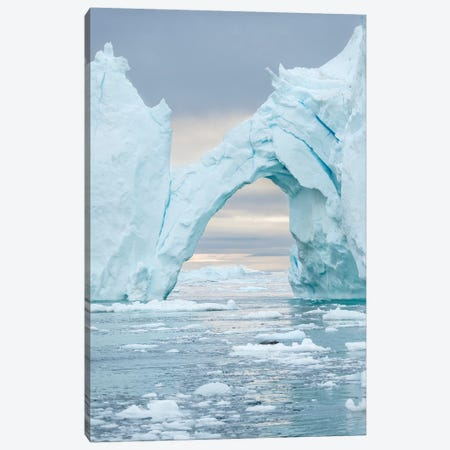 Ilulissat Icefjord At Disko Bay. The Icefjord Is Listed As Unesco World Heritage Site, Greenland. Canvas Print #MZW212} by Martin Zwick Art Print
