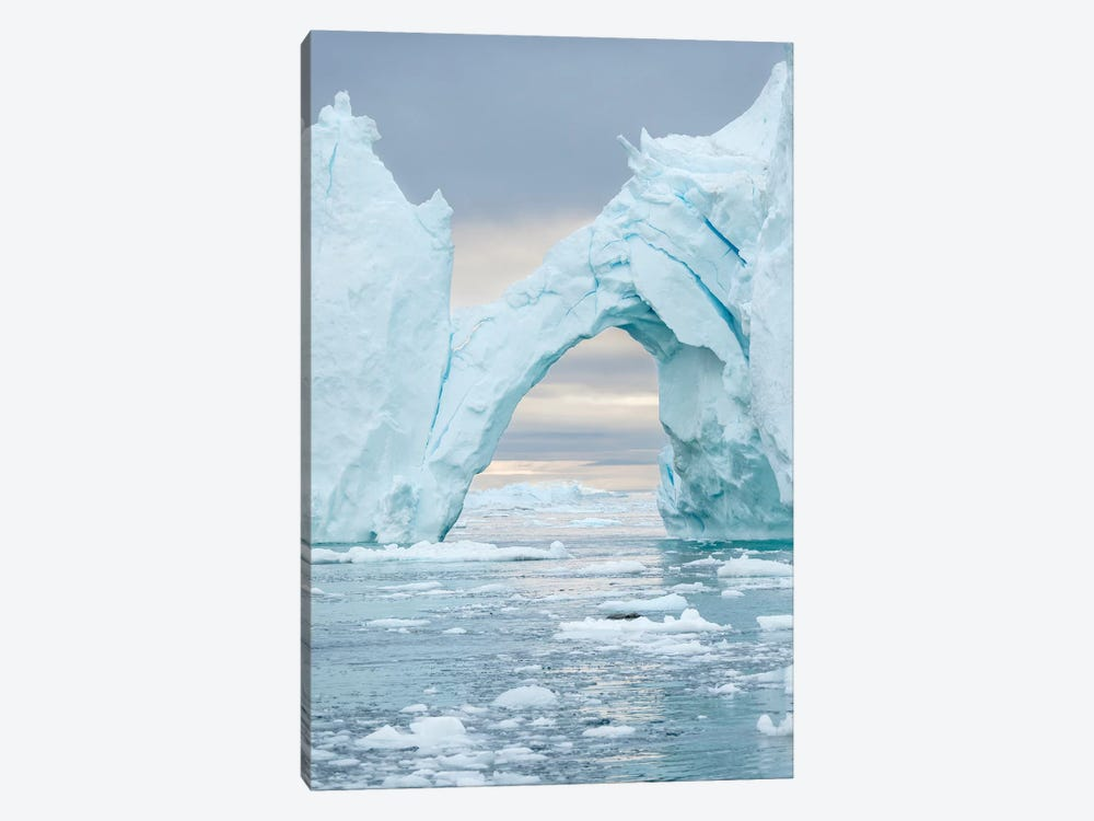 Ilulissat Icefjord At Disko Bay. The Icefjord Is Listed As Unesco World Heritage Site, Greenland. by Martin Zwick 1-piece Canvas Artwork