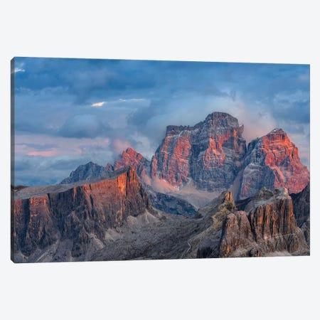 The dolomites in the Veneto. Monte Pelmo, Averau, Italy I 3-Piece Canvas #MZW23} by Martin Zwick Canvas Artwork