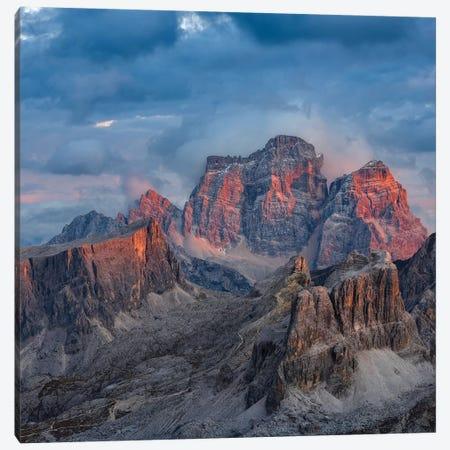 The dolomites in the Veneto. Monte Pelmo, Averau, Italy II 3-Piece Canvas #MZW24} by Martin Zwick Canvas Art Print
