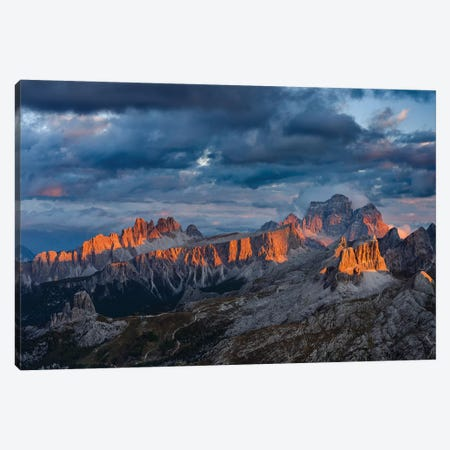The dolomites in the Veneto. Monte Pelmo, Croda da Lago, Averau, Italy Canvas Print #MZW25} by Martin Zwick Canvas Print