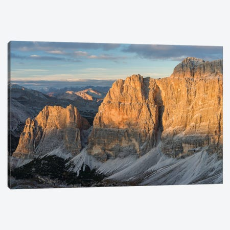 The Fanes Mountains in the Dolomites. Italy 3-Piece Canvas #MZW26} by Martin Zwick Canvas Art Print