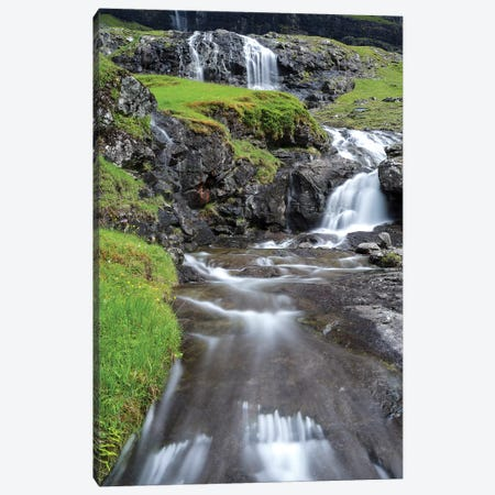 The valley of Saksun. Denmark, Faroe Islands Canvas Print #MZW27} by Martin Zwick Canvas Print